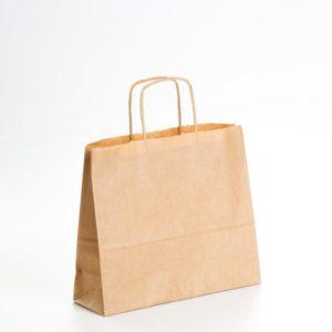 Caja bolsas de papel apaisadas color Kraft